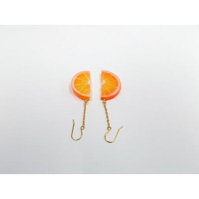 オレンジスライス 小 1/2 ピアス