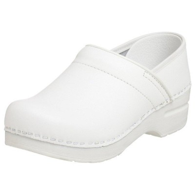 (取寄)ダンスコ プロフェッショナル レディース ボックスレザー クロッグ ホワイト dansko Professional Box Leather Clog White