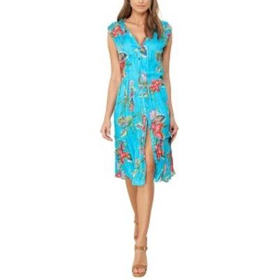 ヘイルボブ レディース ワンピース トップス Hale Bob Linen Midi Dress Colorful femininity with a nod to Boho style.