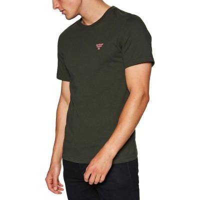 バブアー Barbour Beacon メンズ Tシャツ トップス Small Logo Short Sleeve T-Shirt Forest