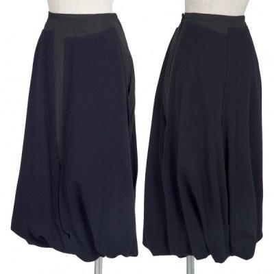 トリココムデギャルソンtricot COMME des GARCONS 異素材切替バルーンスカート 紺S 【レディース】