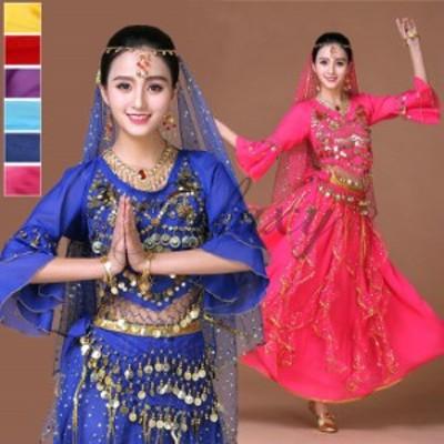ベリーダンス衣装 組み合わせ自由 チョリ スカート ヒップスカーフ 6色 舞台 コスチューム hy0056