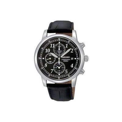 腕時計 セイコー Seiko Men's SNDC33 Black Calf Skin Japanese Quartz Fashion Watch