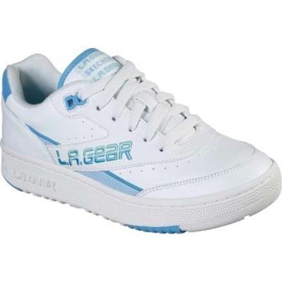 スケッチャーズ スニーカー シューズ レディース L.A. Gear Hot Shots Low Sneaker (Women's) White/Blue