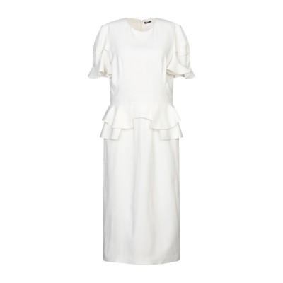 アレキサンダー マックイーン ALEXANDER MCQUEEN 7分丈ワンピース・ドレス ホワイト 44 レーヨン 52% / アセテート 48%