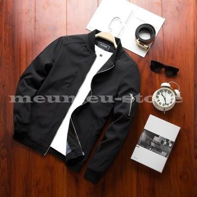 アウター ジャケット ブルゾン ジップアップ ジッパー ポケット 腕ポケット カジュアル 無地 内側デザイン シンプル 秋 冬 重ね着 メンズ
