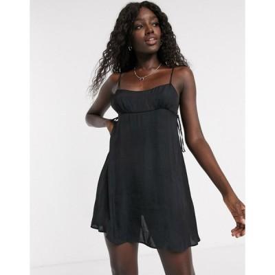 フリーピープル ミディドレス レディース Free People smooth sailin' mini slip dress in black  エイソス ASOS sale ブラック 黒