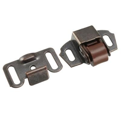 uxcell ローラーキャッチ ボールラッチ ダブルボール 鉄素材 銅のトーン 39 x 29 x 11mm