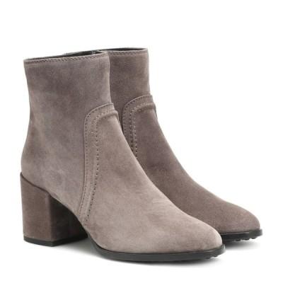 トッズ Tod's レディース ブーツ ショートブーツ シューズ・靴 suede ankle boots Grigio Street