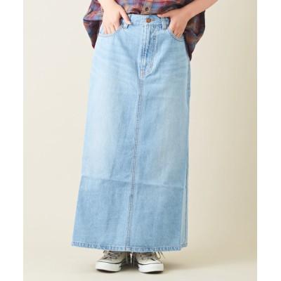 CUBE SUGAR / 9.6オンスデニム ロング Aラインスカート WOMEN スカート > デニムスカート