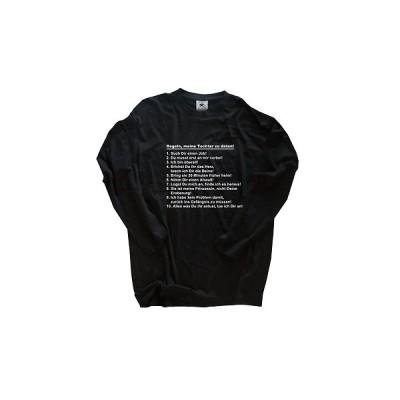 Tシャツ B&C Regeln - Meine Tochter Zu Daten - Vater Papa Gift Longsleeve T-Shirt S-XXL