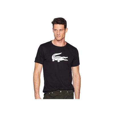 ラコステ Sport Short Sleeve Jersey Tech wu002F Gator Graphic Logo メンズ シャツ トップス Black/White