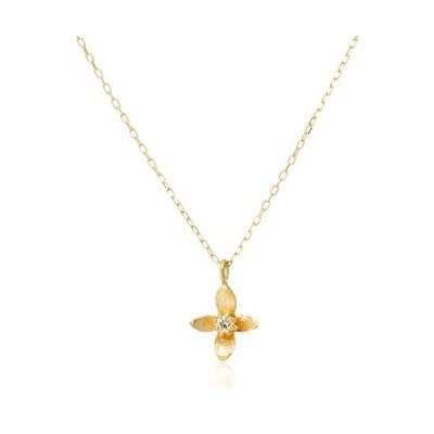 アイビー ダイヤモンド 0.02ct イエローゴールド K10 ネックレス IV-3124