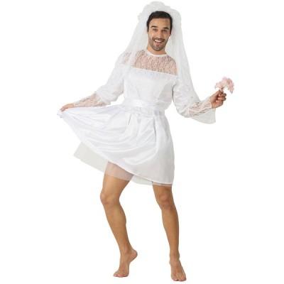 ウェディングドレス コスプレ メンズ ゆるふわ花嫁MAN 女装 セット 男の娘 白 衣装 花嫁 ハロウィン 大きいサイズ 衣装 おもしろ コスチューム 女装MAN