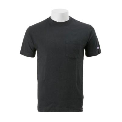 【CHAMPION】 チャンピオン M ベーシック ポケットTシャツ2 C3-M349 ブラック XL