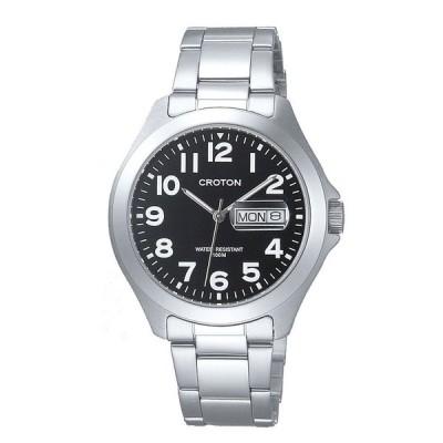 クロトン CROTON 10気圧防水デイデイト メンズ腕時計 RT-144M-4  (HY)