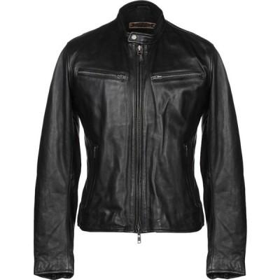 プロレザー PROLEATHER メンズ ジャケット ライダース アウター biker jacket Black