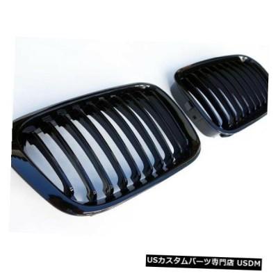 ラジエーターカバー BMW 3シリーズ4D E46グロスブラック腎臓Mテックユーロフロントフードスポーツグリル98-01  BMW 3-Series