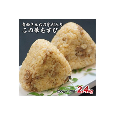有田さんちの日向この華牛肉むすび エクセレント2.4㎏<1-155>