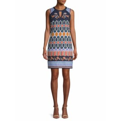 ニコールミラー レディース ワンピース Floral-Embroidered Cut-Out Dress