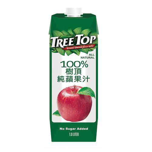 樹頂TreeTop100%蘋果汁1000ml【愛買】