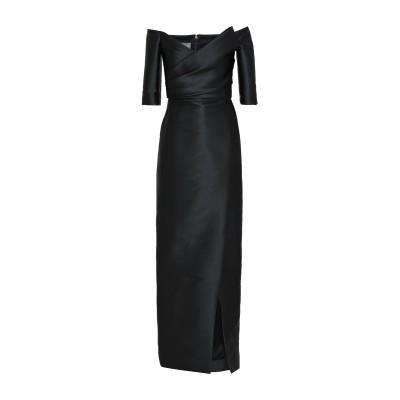 モニークルイリエ MONIQUE LHUILLIER ロングワンピース&ドレス ブラック 6 ポリエステル 84% / ナイロン 12% / ポリウ