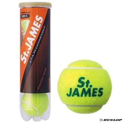 ダンロップ DUNLOP  テニスボール St.JAMES(セントジェームス)4球入 1缶 STJAMESE4DQZ