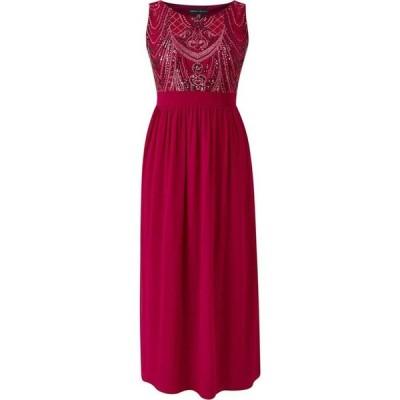 メラ ロンドン Mela London Curve レディース ワンピース マキシ丈 ワンピース・ドレス Sequin Detailed Maxi Dress Burgundy