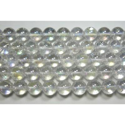 天然石12.5mm half-a1234 水晶レインボー(AB) 半連 約18-20cm