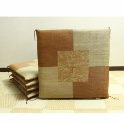 IKEHIKO 純国産捺染返しい草座布団『草美(くさび)5枚組』 3116550 ブラウン 約55×55cm×5P
