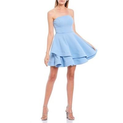 ビーダーリン レディース ワンピース トップス Strapless Double Hem Fit-and-Flare Dress
