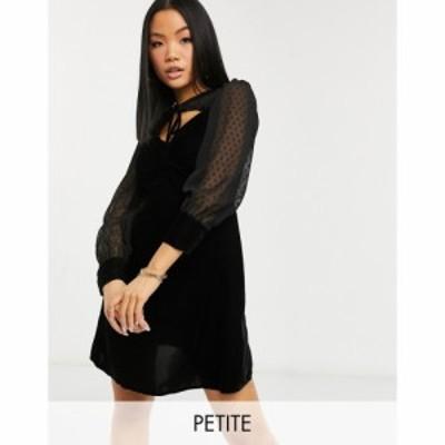 ヴァイオレット ロマンス Violet Romance Petite レディース ワンピース スケータードレス ミニ丈 Mini Skater Dress With Polka Dot Ove