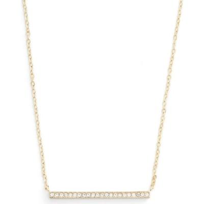 ノードストローム NORDSTROM レディース ネックレス ジュエリー・アクセサリー Pave Bar Pendant Necklace Clear/Gold