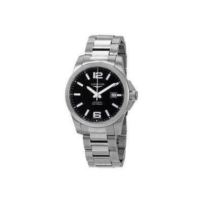 腕時計 ロンジン メンズ Longines Conquest Black Dial Automatic Men's Watch L3.777.4.58.6