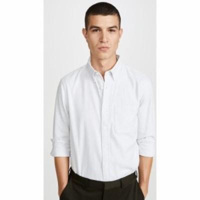 クラブ モナコ Club Monaco メンズ シャツ トップス Long Sleeve Jaspe Button Down Shirt Grey/White