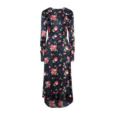 マグダ・ブトリム MAGDA BUTRYM 7分丈ワンピース・ドレス ダークブルー 34 シルク 100% 7分丈ワンピース・ドレス