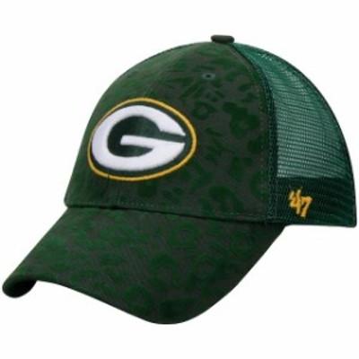 47 フォーティーセブン スポーツ用品  47 Green Bay Packers Womens Green Billie Adjustable Hat