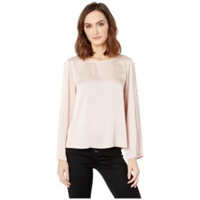Vince Camuto ヴィンスカムート 服 一般 Button Bell Sleeve Hammer Satin Blouse