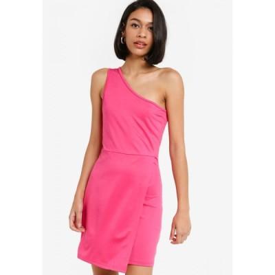 ザローラ ZALORA BASICS レディース ボディコンドレス ワンピース・ドレス One Shoulder Bodycon Dress Hot Pink