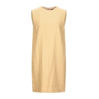 セオリー THEORY ミニワンピース&ドレス オークル 8 ナイロン 52% / リネン 48% ミニワンピース&ドレス