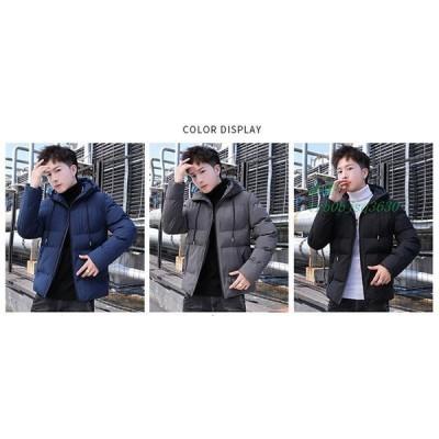 中綿コートアウタースリム冬パーカー中綿ジャケットメンズ新品厚手大きいサイズダウン風コート紳士暖かい防寒フード付きおしゃれジャンパー