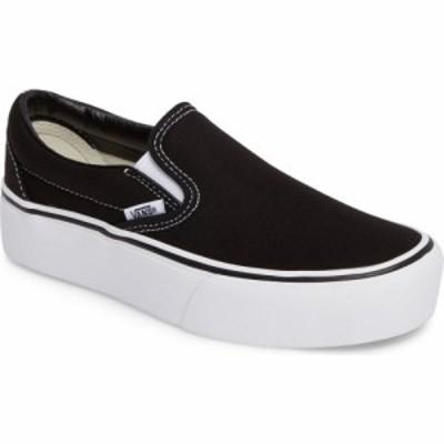 ヴァンズ VANS レディース スリッポン・フラット スニーカー シューズ・靴 Platform Slip-On Sneaker Black/White