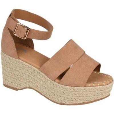 ジャーニーコレクション サンダル シューズ レディース Takara Espadrille Wedge Platform Sandal (Women's) Taupe Faux Leather