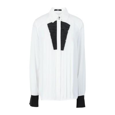 カールラガーフェルド KARL LAGERFELD シャツ ホワイト 38 シルク 100% シャツ