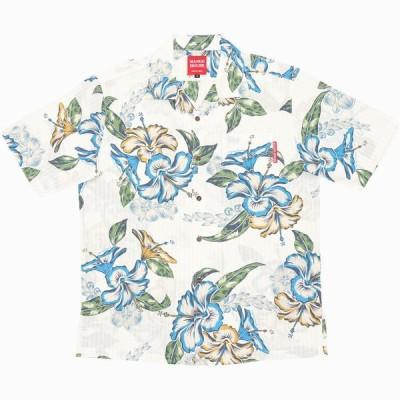 かりゆしウェア 沖縄 アロハシャツ MANGO HOUSE リゾート 結婚式 お揃い ペア 181064 楽園ハイビー メンズ