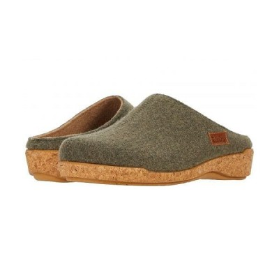 taos Footwear タオス レディース 女性用 シューズ 靴 クロッグ ミュール Woollery - Olive