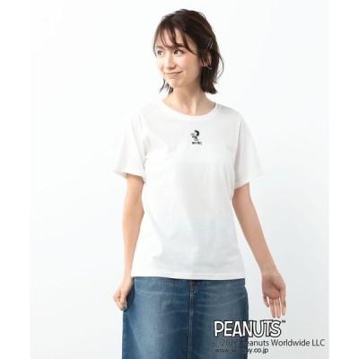 tシャツ Tシャツ 【ピーナッツ】ルーシーワンポイント刺繍Tシャツ