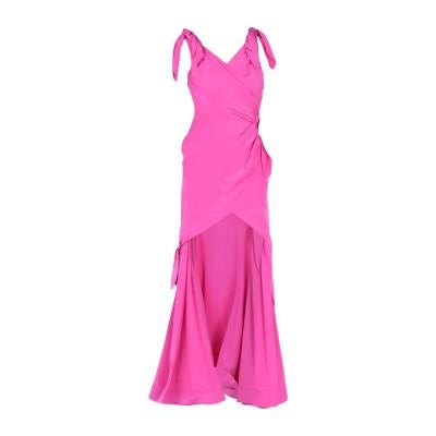モスキーノ MOSCHINO ロングワンピース&ドレス フューシャ 40 シルク 100% ロングワンピース&ドレス