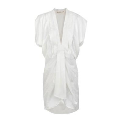 NINEMINUTES ミニワンピース&ドレス ホワイト 38 レーヨン 96% / ポリウレタン 4% ミニワンピース&ドレス