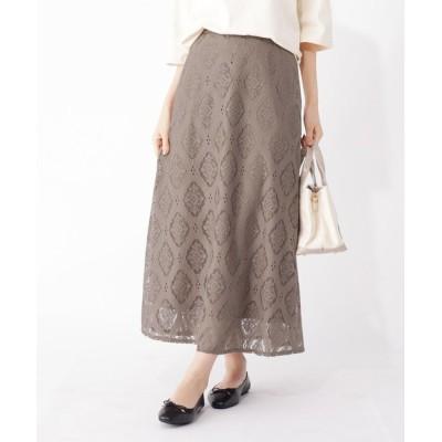 grove / 【S-LL】アラベスクレースフレアスカート WOMEN スカート > スカート